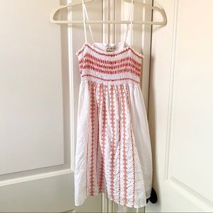 2/$12 Forever 21 Embroidered 100% Cotton Dress